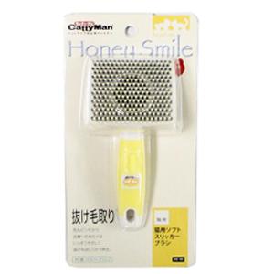 ドギーマン Honey Smile(ハニースマイル) 猫用ソフトスリッカーブラシ HS−49