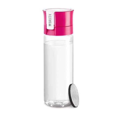 BRITA(ブリタ) 水筒 直飲み 600ml 携帯用 浄水器 ボトルカートリッジ1個付き fill&go(フィル&ゴー) ピンク(日本仕様・日本正規品)