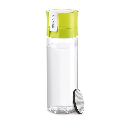 BRITA(ブリタ) 水筒 直飲み 600ml 携帯用 浄水器 ボトルカートリッジ1個付き fill&go(フィル&ゴー) ライム(日本仕様・日本正規品)