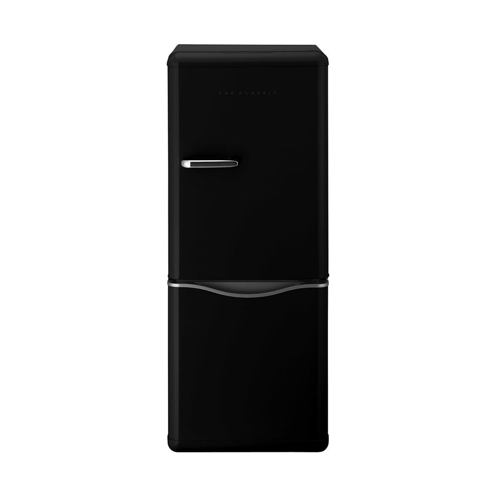 DAEWOO レトロデザイン2ドア冷蔵庫150L ブラック DR−C15AB