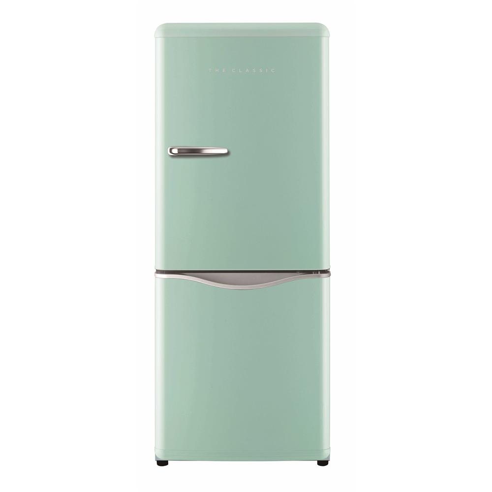 DAEWOO レトロデザイン2ドア冷蔵庫150L アクアミント DR−C15AM