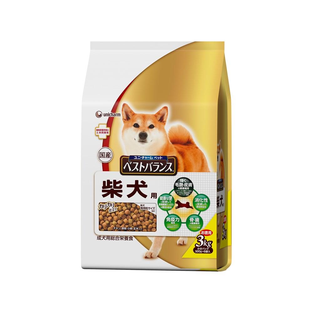 ※※※ベストバランス カリカリ仕立て 柴犬用 成犬用 3kg 【ドッグフード ドライ】