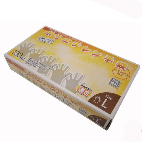 ポリエチレン手袋L 100枚 KW04−4904