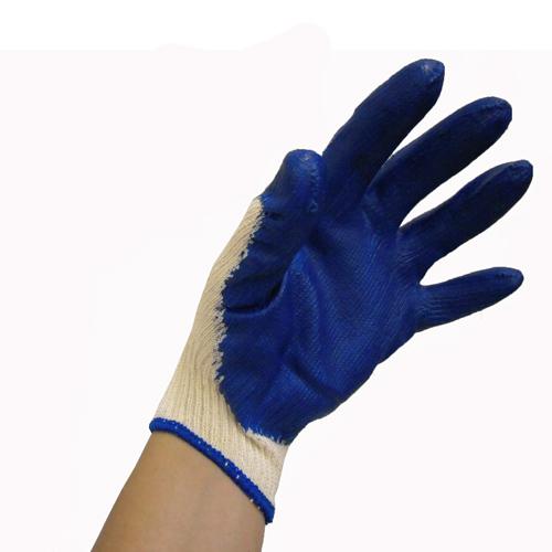 ゴム引き手袋 5双組 ブルー CL680−5P
