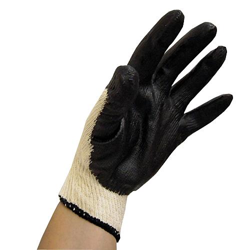 ゴム引き手袋 10双組 ブラック CL680−10P