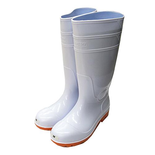 PVC耐油長靴 白 先芯入 M KTL04−9922