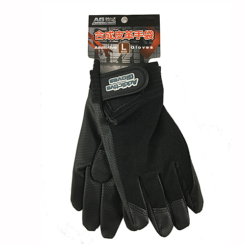 PU革手袋 黒 L KU04−2136