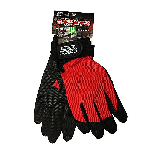 PU革手袋 レッドLL KU04−2174