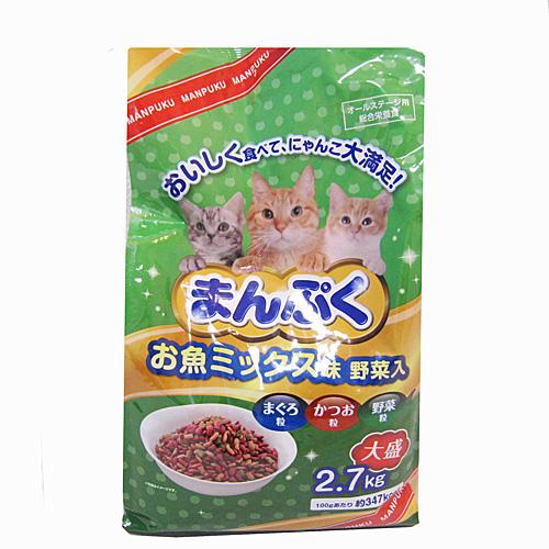 まんぷくドライお魚 ミックス味・野菜入 2.7kg