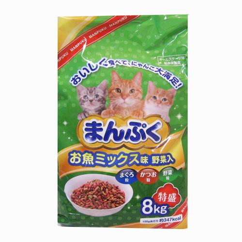 まんぷくドライお魚 ミックス味・野菜入 8kg