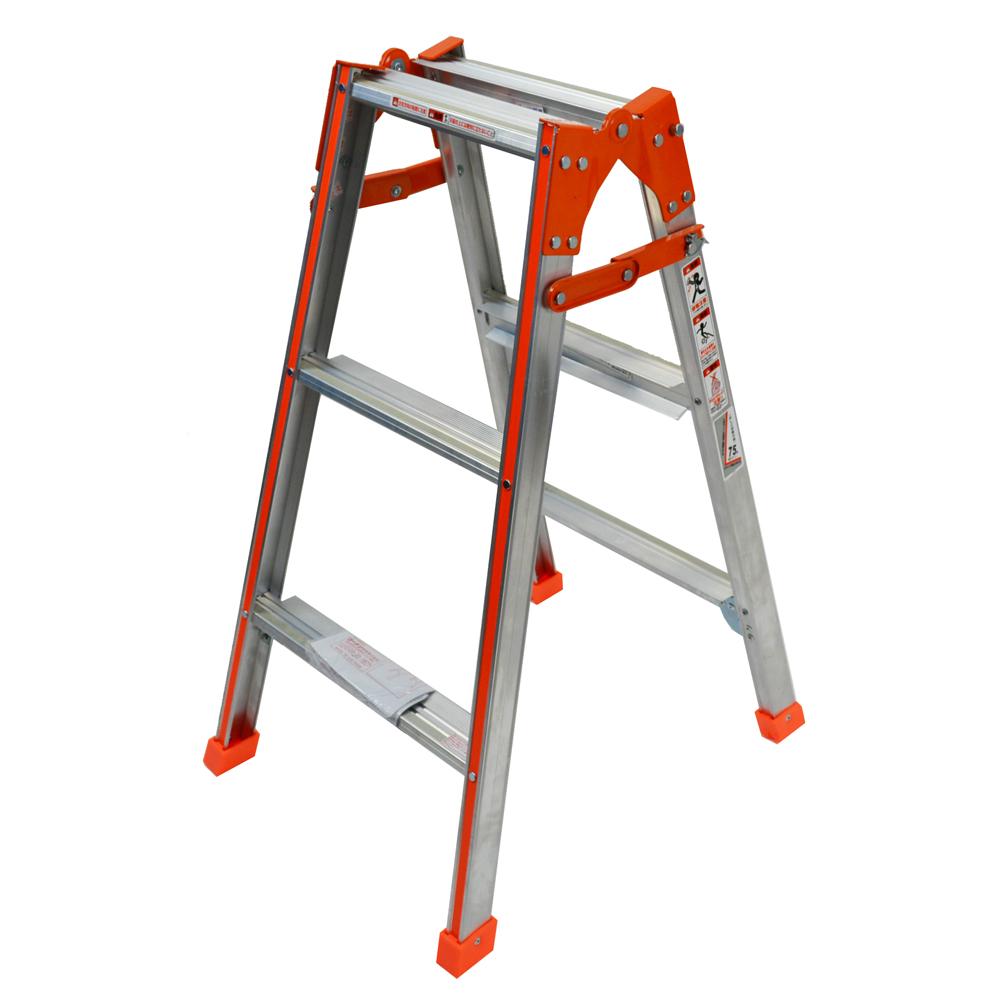 幅広はしご兼用脚立 3段XX−90WSG オレンジ