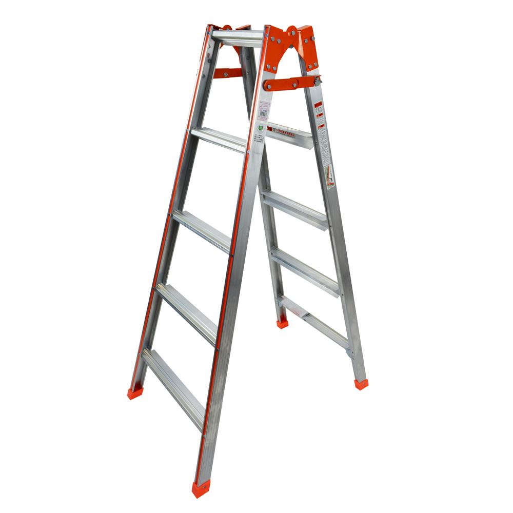 幅広はしご兼用脚立 5段XX−150WSG オレンジ