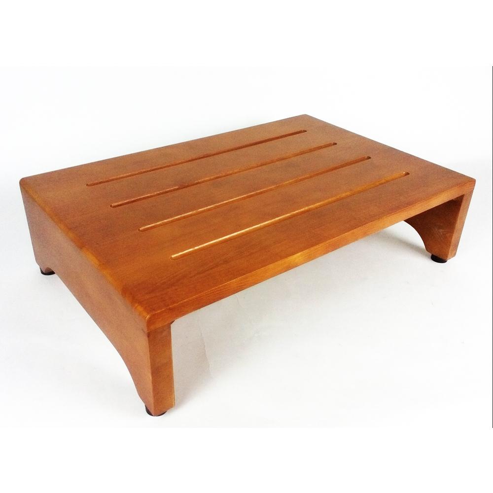 木製玄関台(アジャスター付) ブラウン (約)幅600×奥行400×H160mm GD600-01-1299