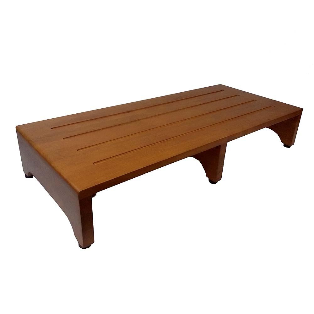木製玄関台(アジャスター付) ブラウン (約)幅900×奥行400×H160mm GD900-01-1305
