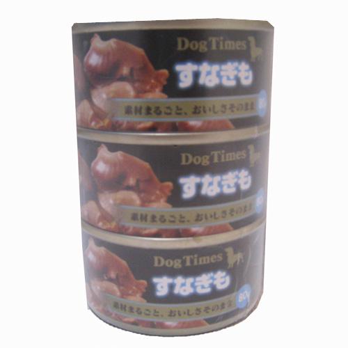 ドッグタイムスミニ缶 すなぎも 80g×3