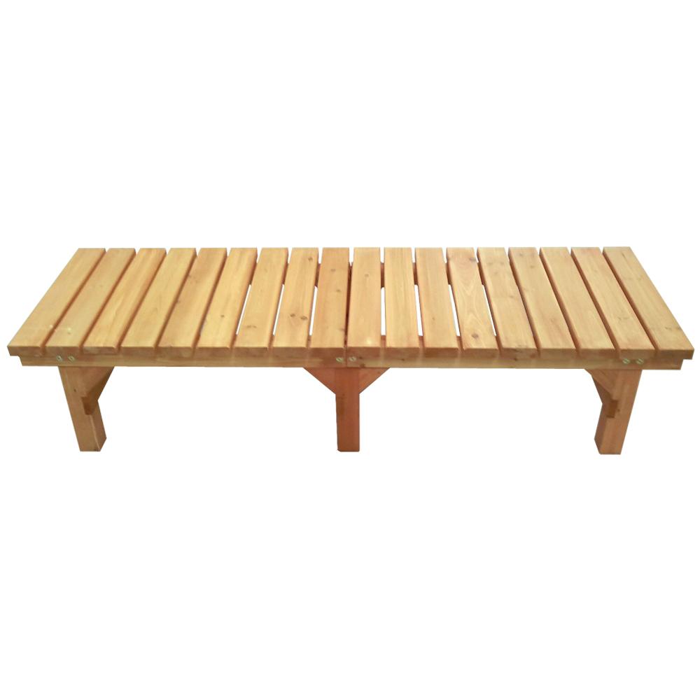 コーナン オリジナル 木製縁台(無塗装) 小 約幅1800X奥行580X高さ400mm 静止耐荷重:約300kg ※お客さま組立品