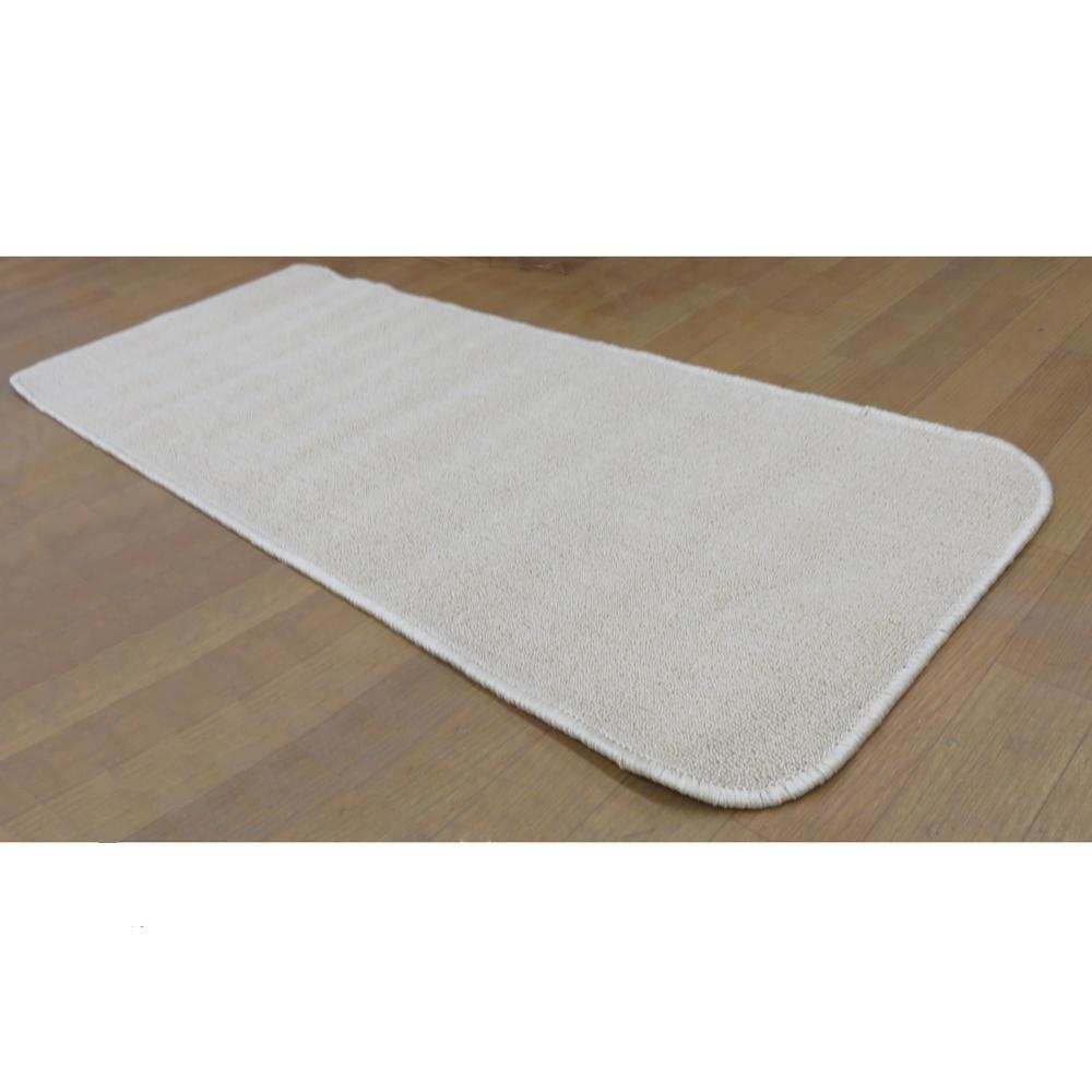 タフトカーペット 約50×120cm ベージュ