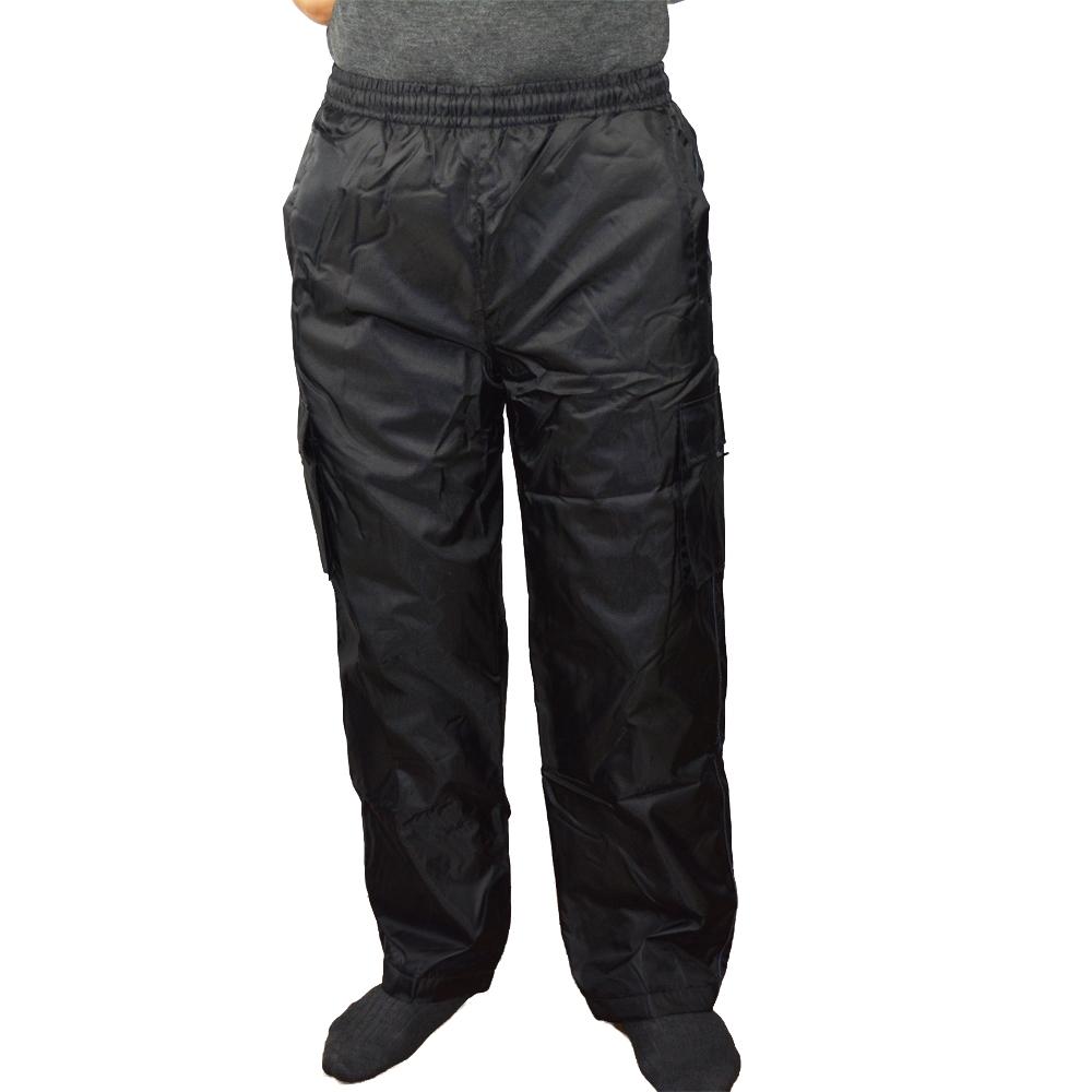裏フリース防寒パンツ ブラック M