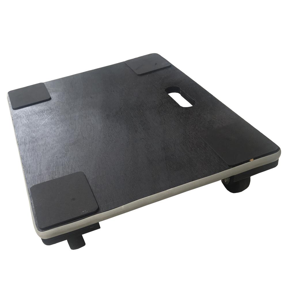 LIFELEX 木製平台車(黒)45 6045A