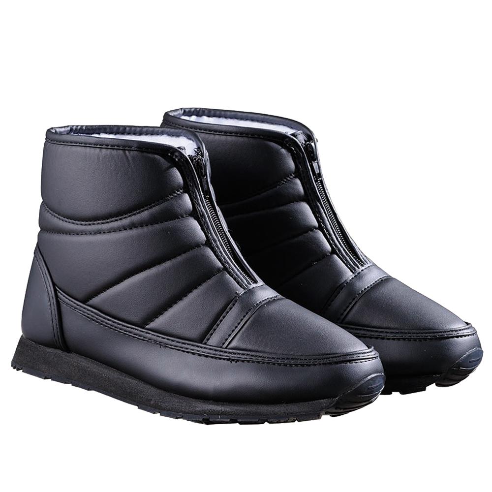 オールボア防寒ブーツファスナー ブラック 25cm