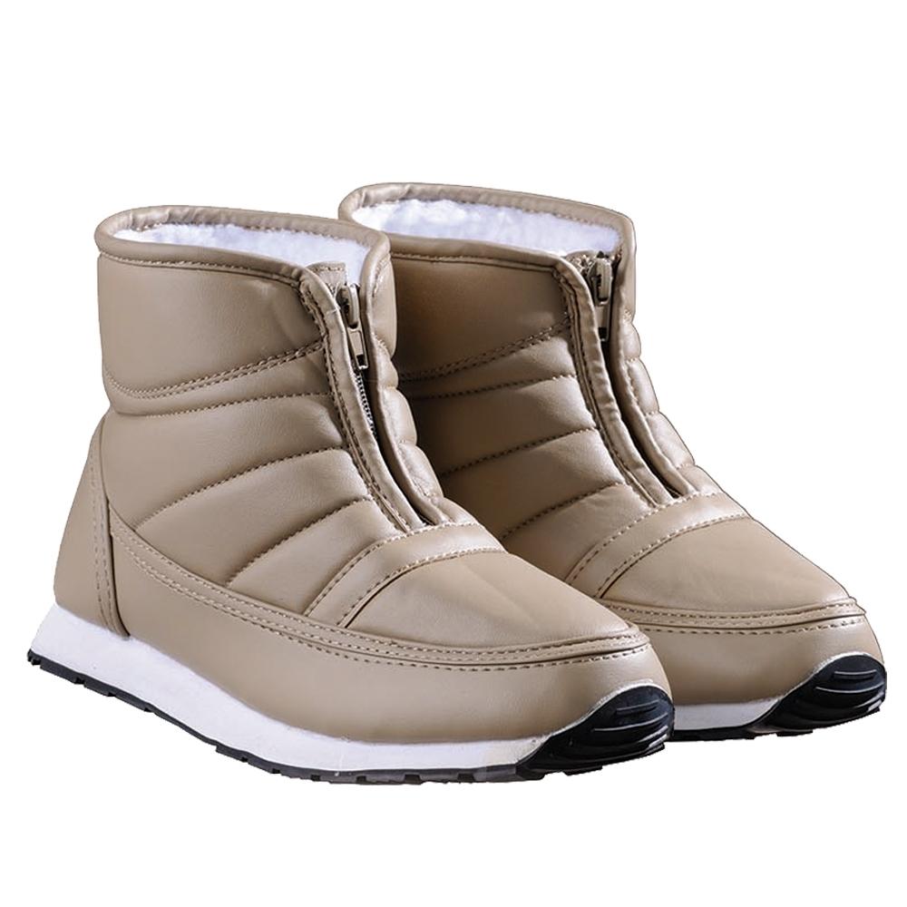 婦人オールボア防寒ブーツファスナーベージュ23cm
