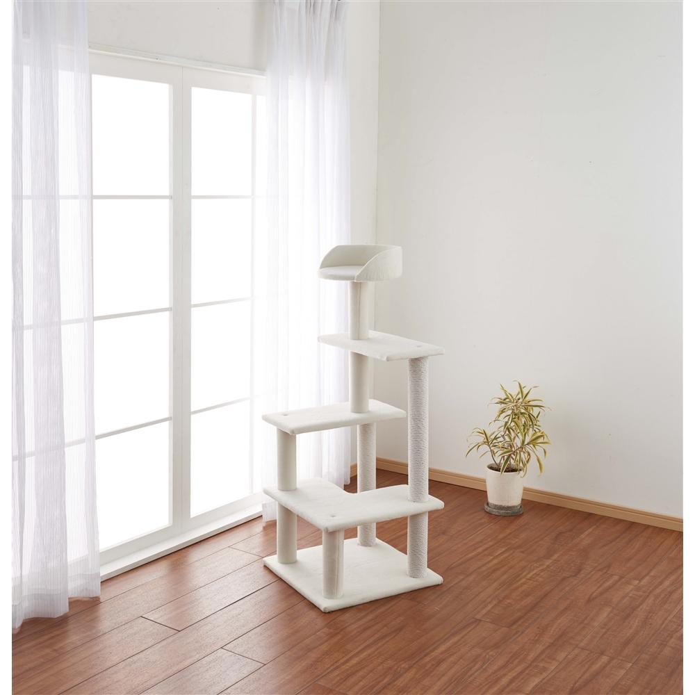 ふわふわ キャットツリー 120cm 猫タワー キャットタワー 玩具 ツリー