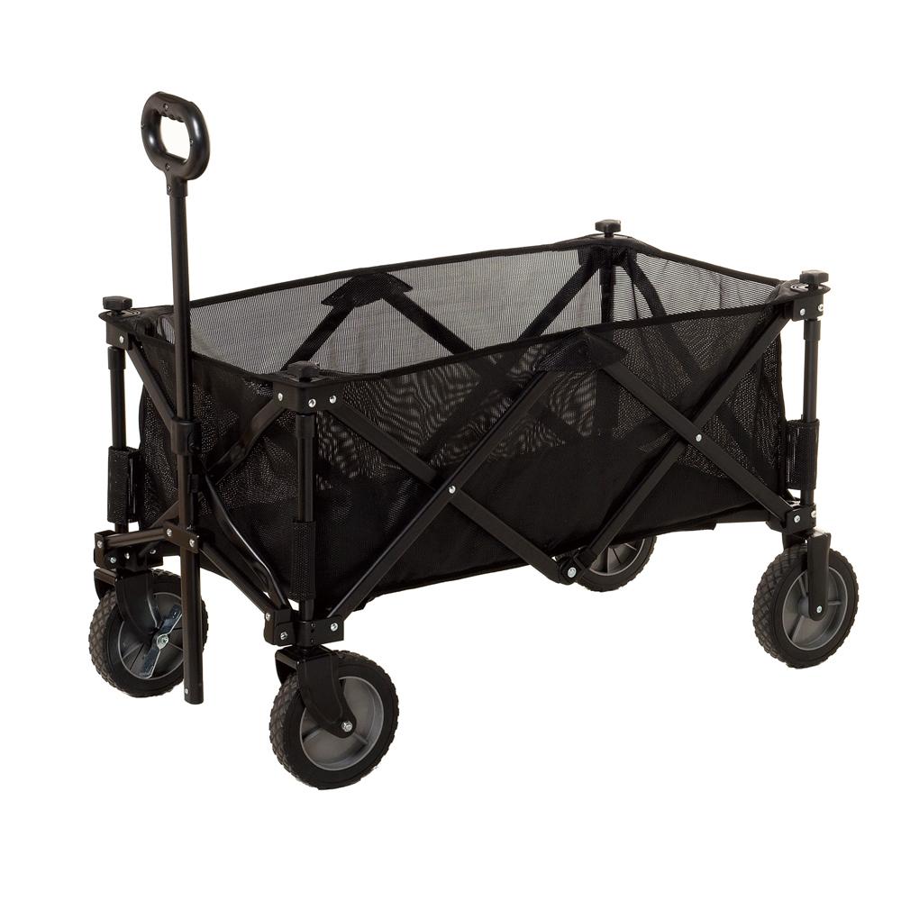 コーナンオリジナル キャリーワゴン ブラック 幅約100X奥行470X高さ54/92cm 135L 製品重量:約10.4kg SP23-9923
