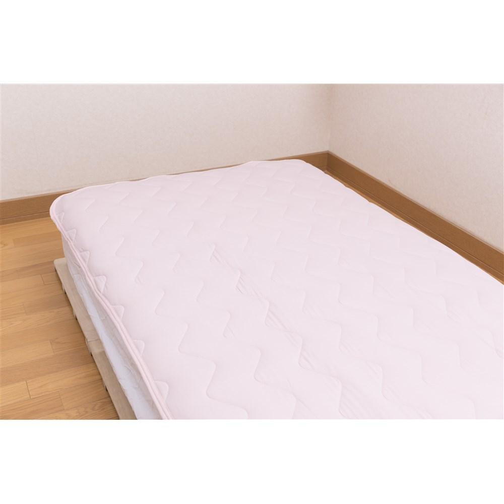 マシュマロひんやり敷きパッド ピンク 約幅100×奥行205cm