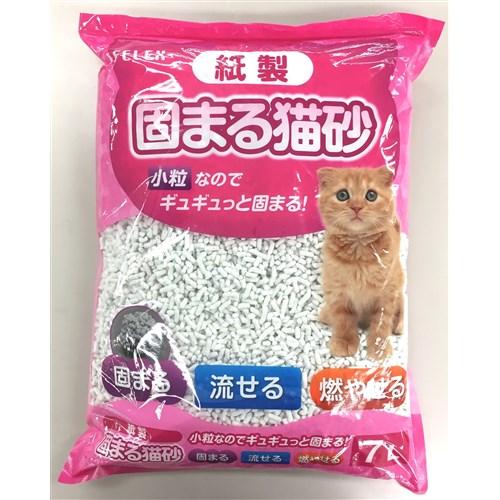 紙製 固まる猫砂小粒ホワイト 7L