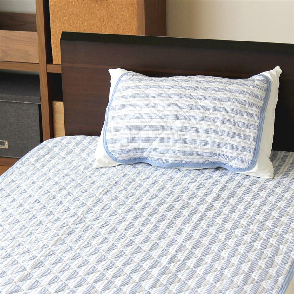 枕パッド 吸水速乾ニットワッフル 35x50、43x63cmサイズ兼用 MP184030−72