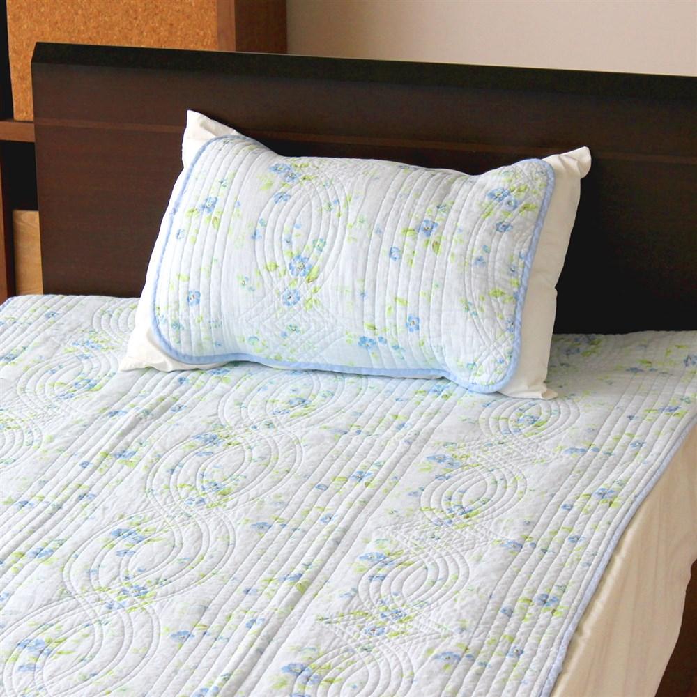 枕パッド水洗いキルト ボタニカル 35x50、43x63cmサイズ兼用 MP184036−76