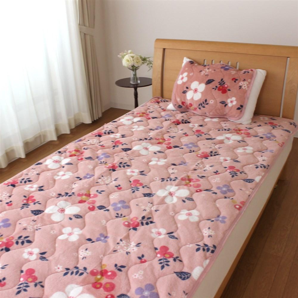 枕パッド フランネル北欧フラワー 35x50、43x63cm枕サイズ兼用 MP184064−16