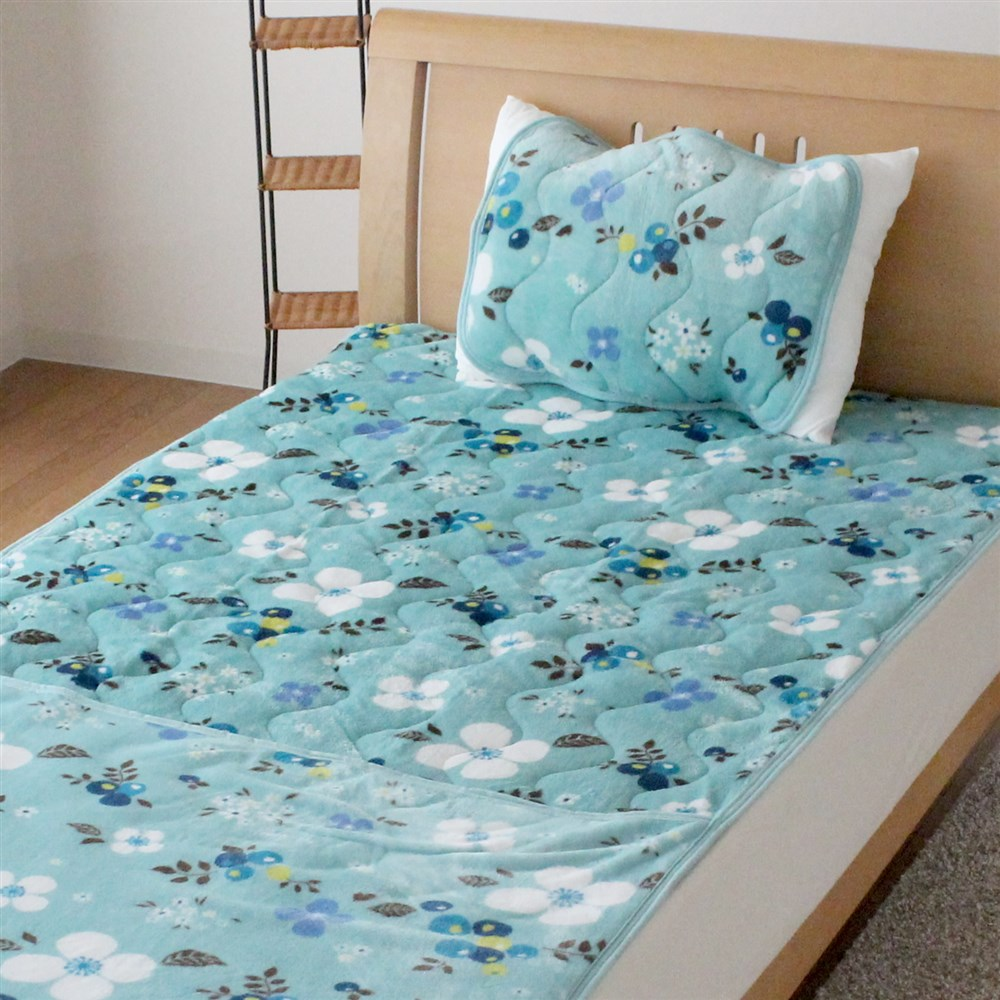 枕パッド フランネル北欧フラワー 35x50、43x63cm枕サイズ兼用 MP184064−76