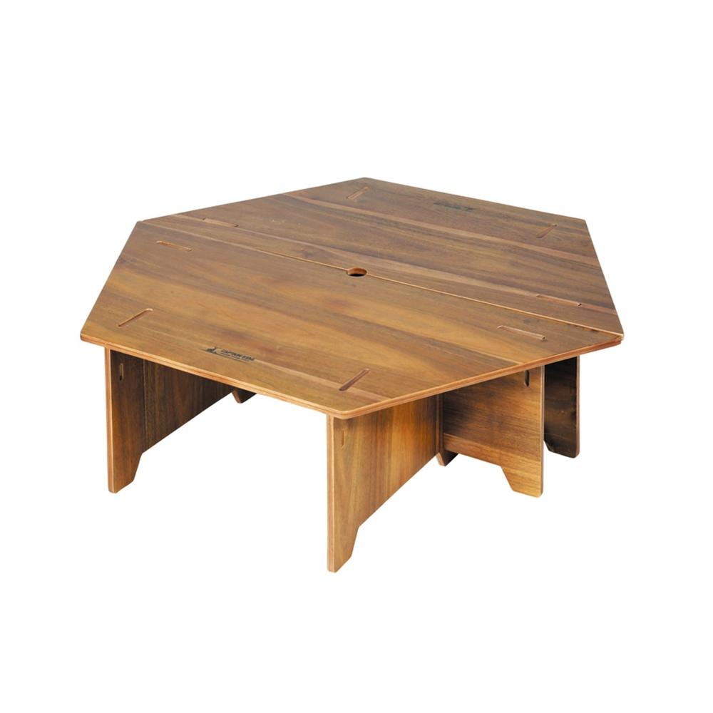 キャプテンスタッグ(CAPTAIN STAG) テーブル ヘキサセンターテーブル 収納バッグ付き CSクラシックス UP-1040 ※テント等は演出用です。商品には含まれません。