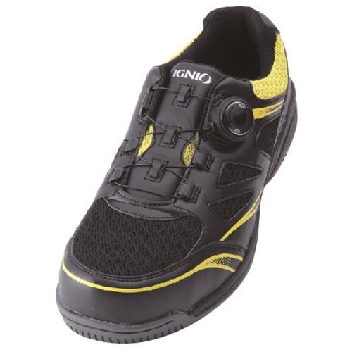イグニオ 安全靴 ダイヤル IGS1015BKYL25.0