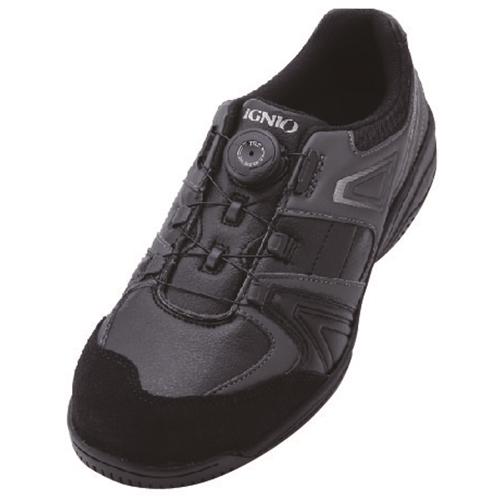 イグニオ 安全靴 ダイヤル IGS1027BK24.0
