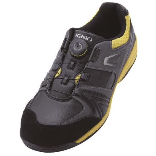 イグニオ 安全靴 ダイヤル IGS1027BKYL24.0