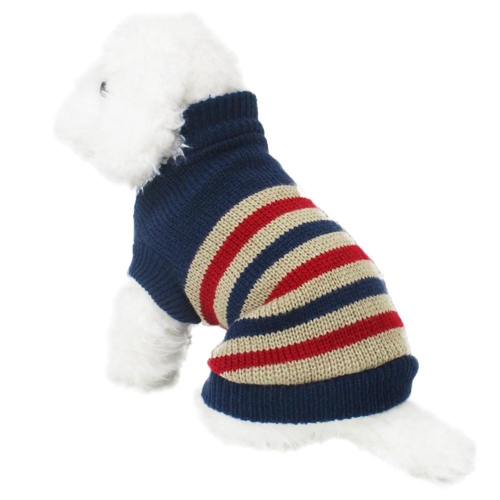 ボーダーセーター1 紺色 Lサイズ ペットウェア ペット服 かわいい おしゃれ 北欧