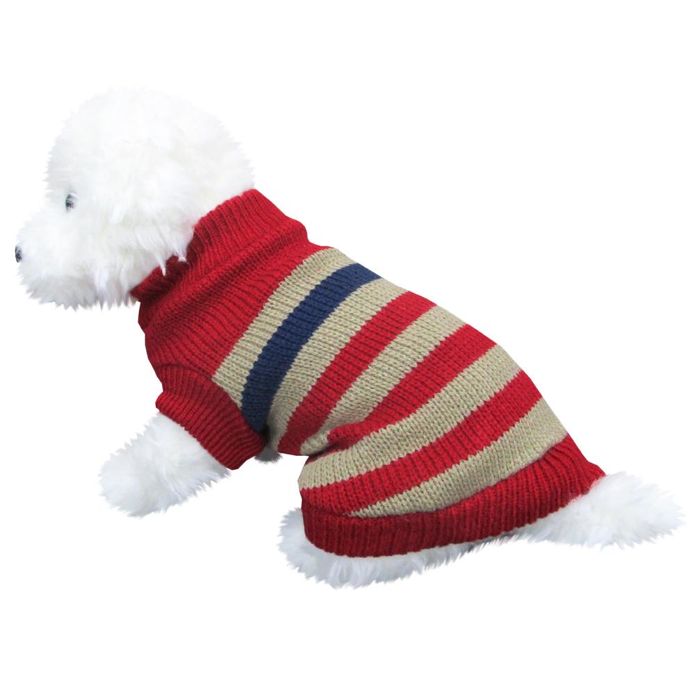 ボーダーセーター2 赤色 Mサイズ ペットウェア ペット服 かわいい おしゃれ 北欧