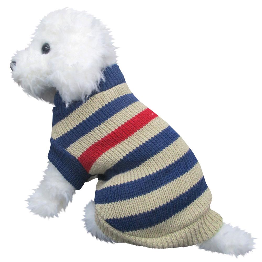 ボーダーセーター2 紺色 Mサイズ ペットウェア ペット服 かわいい おしゃれ 北欧