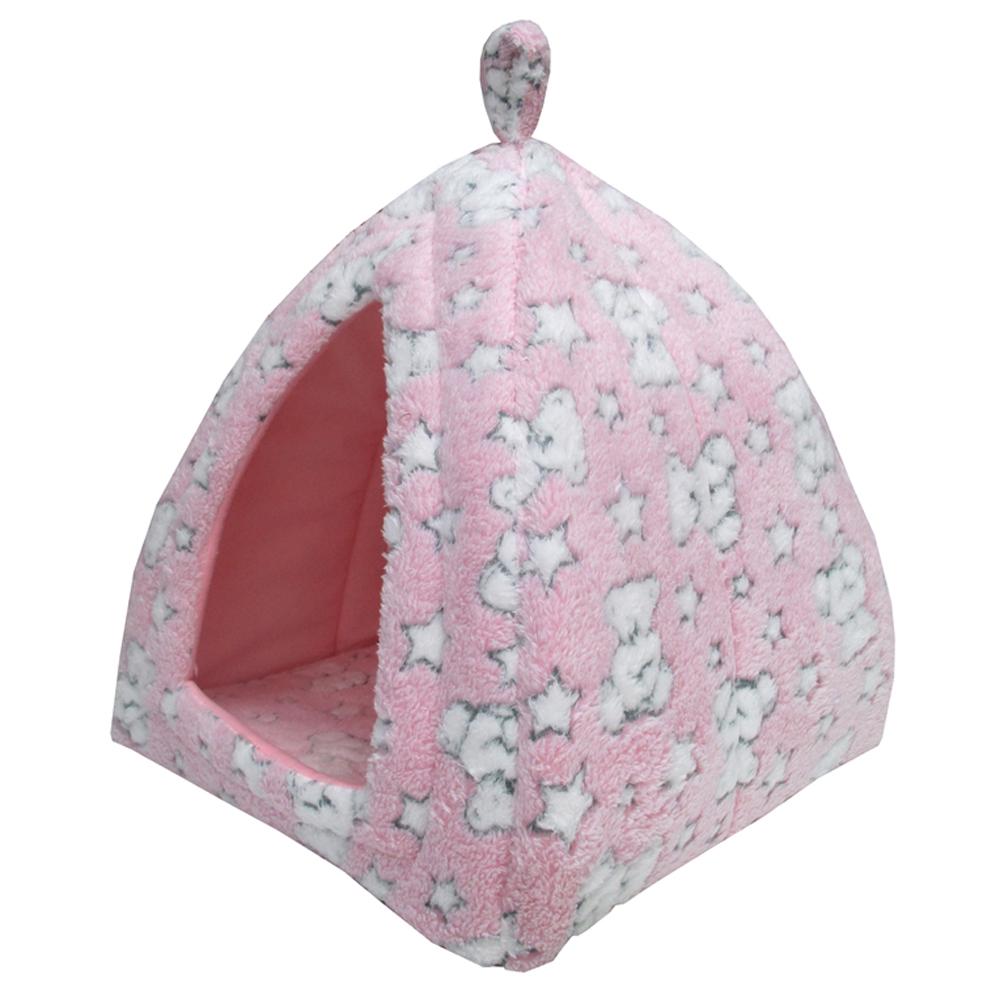 ベア テントベッド ピンク ペットベッド ペットマット かわいい おしゃれ 北欧