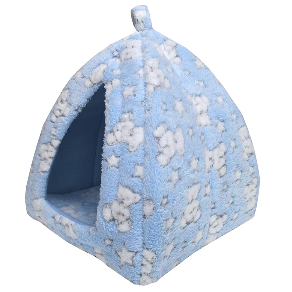 ベア テントベッド ブルー ペットベッド ペットマット かわいい おしゃれ 北欧