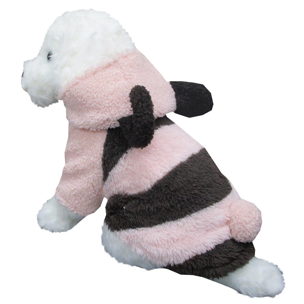 みみ付きボーダー ピンク Lサイズ ペットウェア ペット服 かわいい おしゃれ 北欧