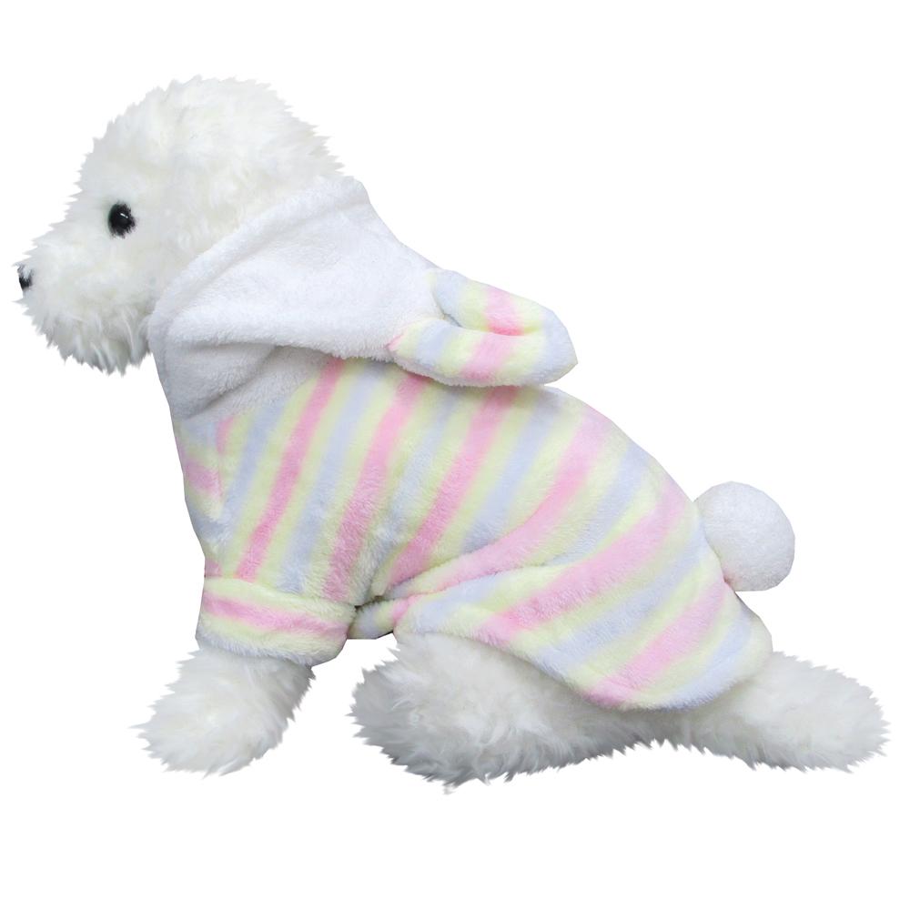 みみ付きパステル細 オフホワイト DMサイズ ペットウェア ペット服 かわいい おしゃれ 北欧
