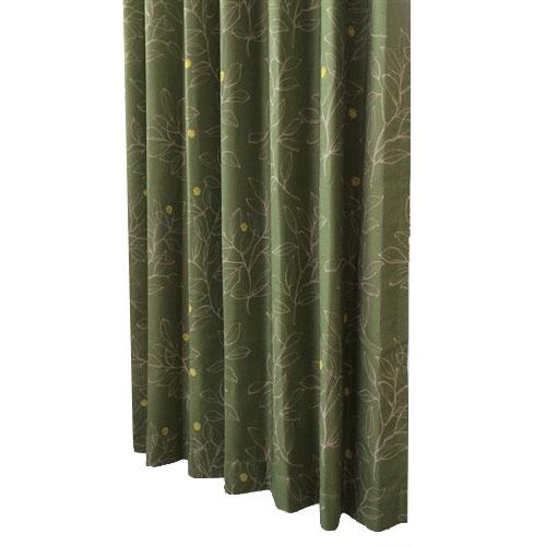 カーテンナッツ グリーン 2枚入 約幅100×丈178cm