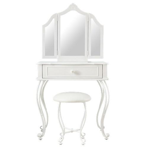 Lilou de coco パール三面鏡ドレッサーセット