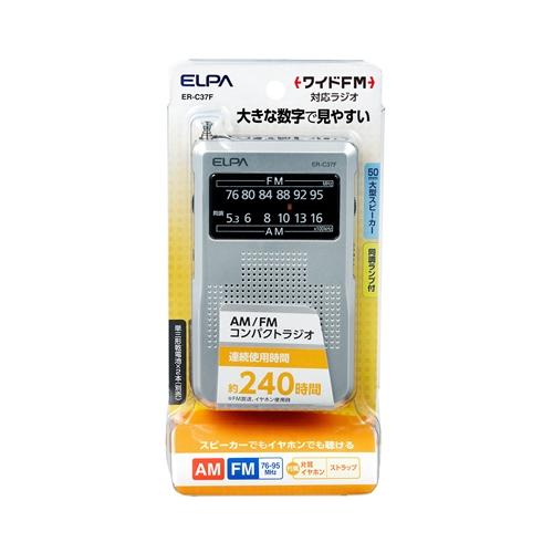 ELPA ポケットラジオ ER−C37F