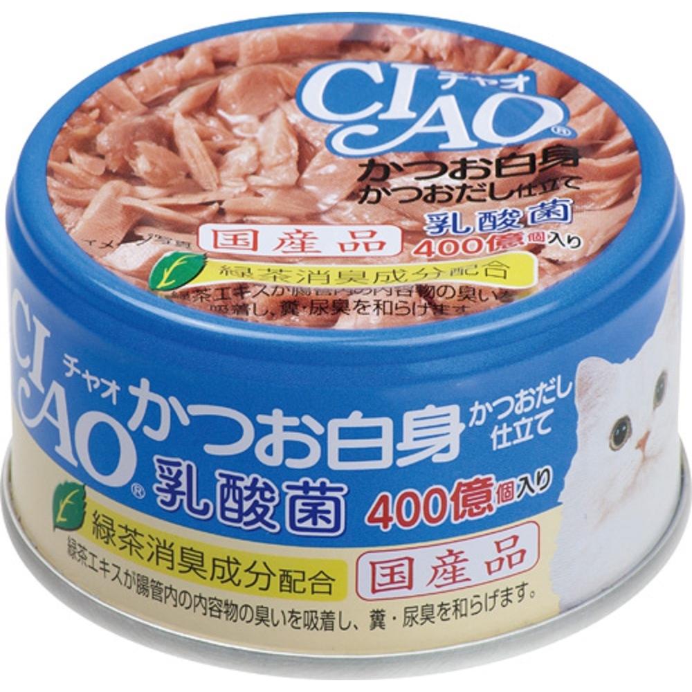 チャオ 乳酸菌 かつお白身 かつおだし仕立て 85g