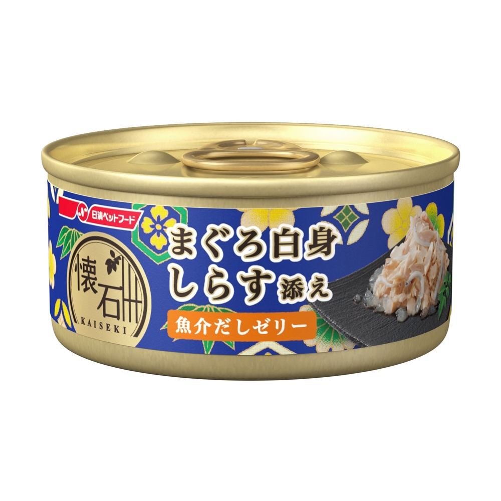 懐石缶 まぐろ白身 しらす添え 魚介だしゼリー 60g