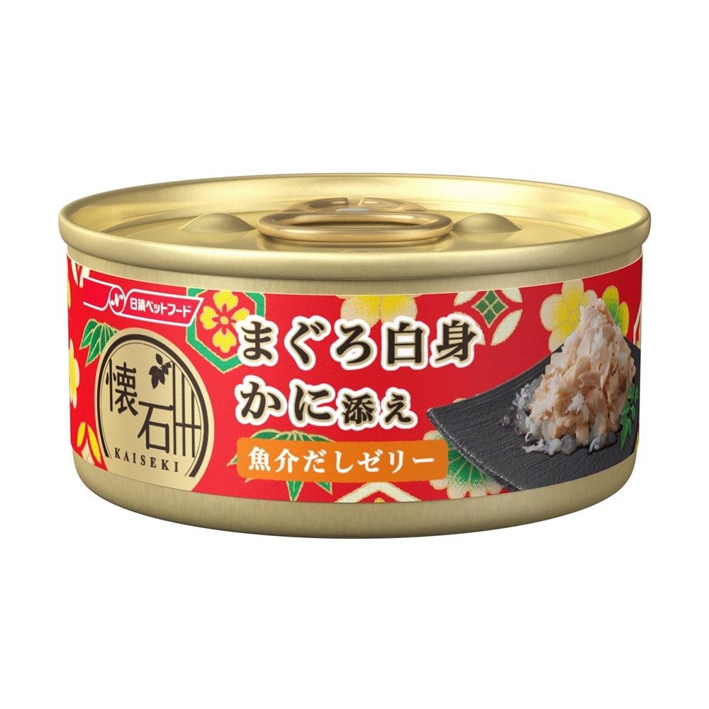 ※※※懐石缶 まぐろ白身 かに添え 魚介だしゼリー 60g